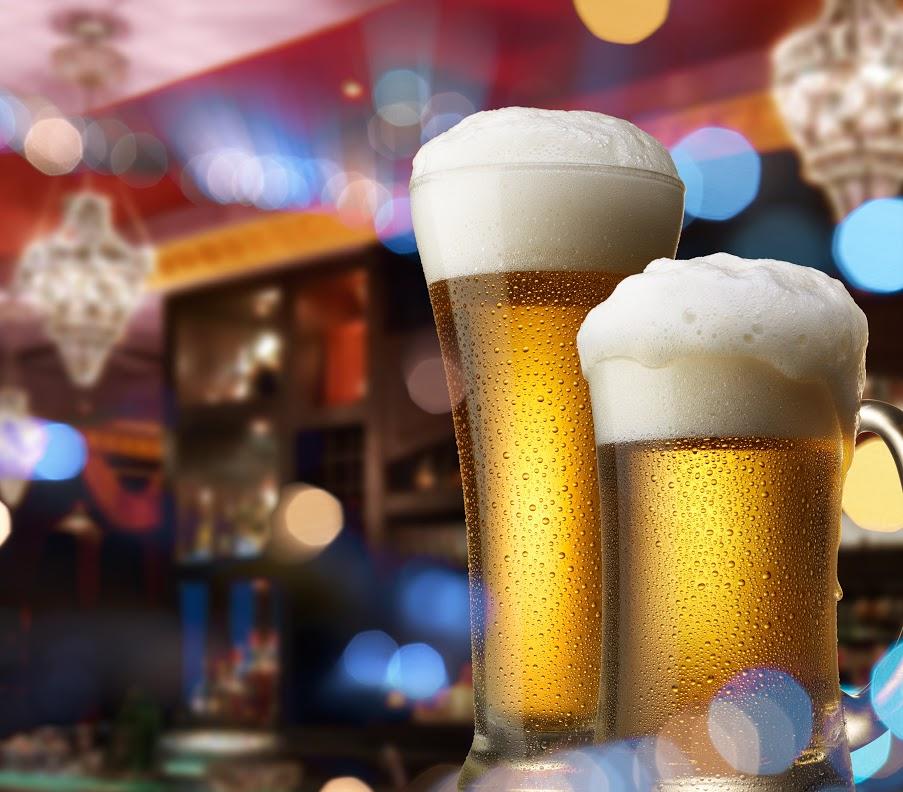 beer at bar
