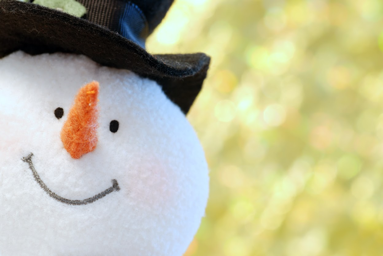 snowman face close up