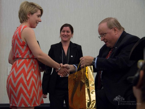 Ms. Kelley Flowers was recently given the Disability Awareness Week Award from the Premier's Council on the Status of Disabled Persons as part of the 2016 Disability Awareness Week activities.