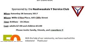 Nashwaaksis Y's Service Club Fundraising Breakfast for Big Brothers Big Sisters
