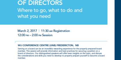 """""""How to Get on a Board of Directors"""" Event"""