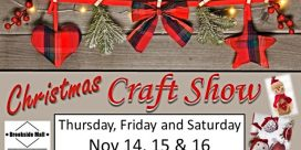 Annual Brookside Mall 2019 Christmas Craft Sale – November 14th to 16th, 2019
